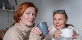 Kobiety pijące kawę i herbatę